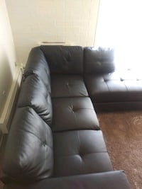 "leather ""3"" piece sectional in great condition!  Denver, 80247"