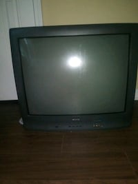 black CRT TV with remote Raleigh, 27608