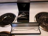 Watch and chain in box Surrey, V4N 5R4