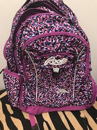 purple and black floral backpack Toronto, M8Z 3A3