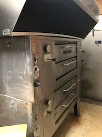BAKERS PRIDE 4 PIE NAT GAS PIZZA OVENS WITH THE HOOD