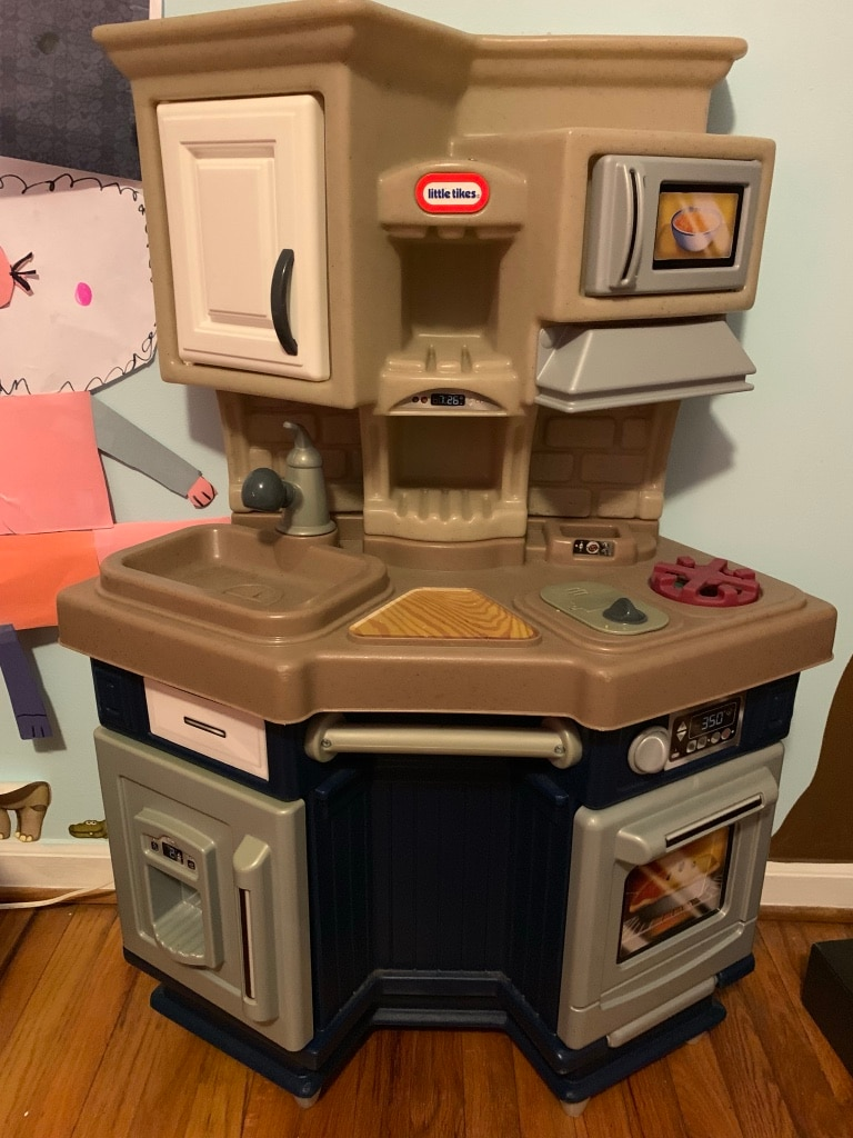 used white and brown little tikes kitchen play set for sale in rh us letgo com