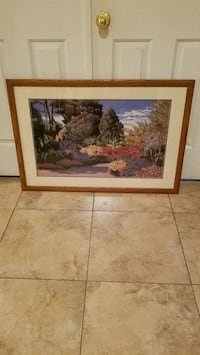 Large 38x26 wood framed wall art  Henderson, 89014