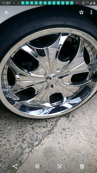 "22"" Rims . Tires and rims. Selling 4 a friend."