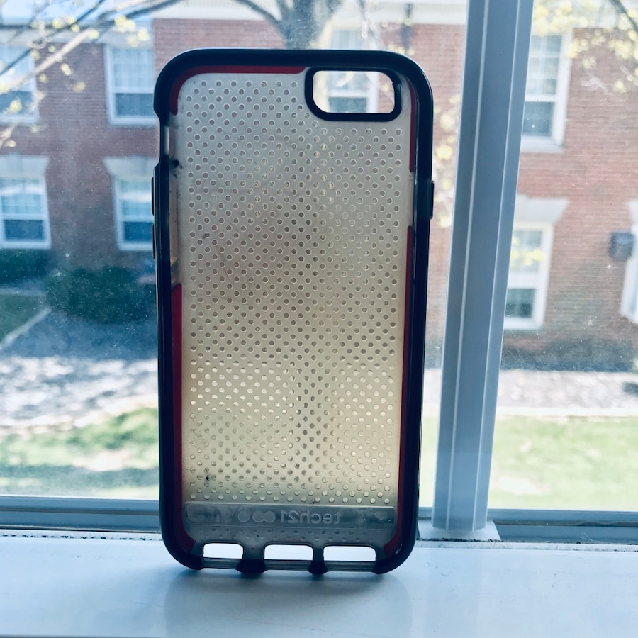 Photo IPhone 6 / 6s / 7 / 8 Red/Gray Silicone Phone Case