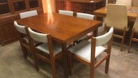mid century slide out dining table set Saint Petersburg, 33713