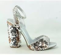 Steven Madden silver sequence party sandal Greenbelt, 20770
