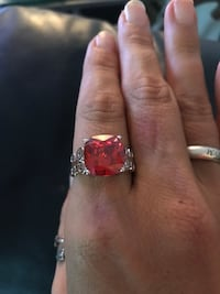 Sterling silver imitation ruby ring Mount Juliet, 37122