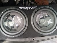 Twin subwoofers great condition Barely Used New Rochelle, 10801
