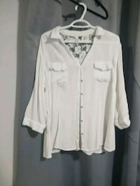 white button-up collared jacket