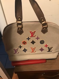 White and black leather tote bag LV Cookeville, 38501