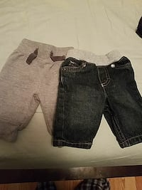 two black and gray denim and cotton shorts Sonora, 42776