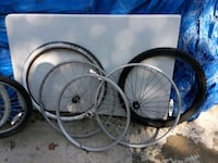 Bicycle wheels tires tubes some other parts  Brooklyn, 11229