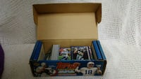 Topps football player trading cards box
