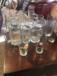 Nice collection of beer mugs steins glasses!