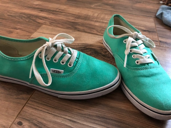 aed2220fe9 Used Pair of green Vans low-top sneakers for sale in San Jose - letgo