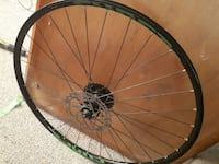 black and green bicycle wheel Edmonton, T5K 1W4