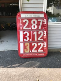 Getty Gasoline Pump Sign with Numbers