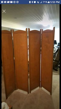 brown wooden 4-panel room divider Haymarket, 20169