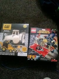 Brand new toys marvels legos and cat tractor Eugene, 97402