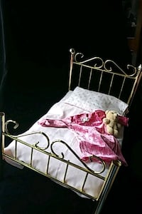 American Girl doll brass colored bed