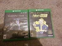 Xbox one Fallout 4 and Shadow of War Knoxville, 37924