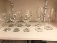 clear glass decanter with six drinking glasses Fairfax, 22030