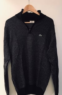 Black and grey lacoste jumper London, W2