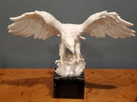 """EAGLE STATUE 14-inch tall Santini """"Lord of the Skies"""" on a Black Base VTG from ITALY"""