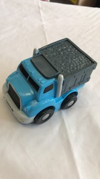 black and blue plastic truck toy
