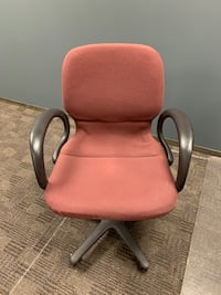 Burgundy Roller office chair