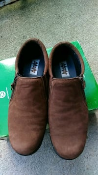 pair of brown suede slip-on shoes Raleigh, 27609