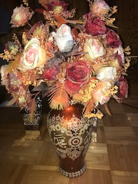 2 Vase with Brown and red floral flowers Calgary, T3J 4R1