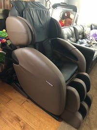 Kahuna Massage Chair Space-Saving Zero-Gravity Full-Body Recliner LM6800 with yoga & heating therapy (Brown) Centreville, 20121
