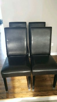 4 faux leather chairs Yorkville, 60560