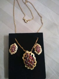 Gold fill ruby, necklace. New never used in it cas McHenry, 60051