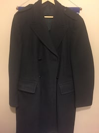 Men's size 40 regular vintage 1969 forest green military wool coat superb quality and condition 722 km