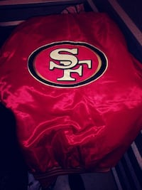 red and white San Francisco 49ers jacket