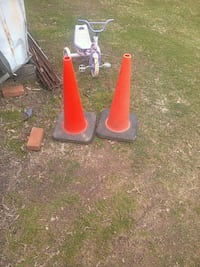 two red-and-brown traffic cones Pittsburgh, 15237