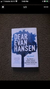 Dear evan hansen book signed by all the authors