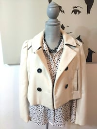 $25 - Cropped Thick Peacoat - $60 Value Toronto