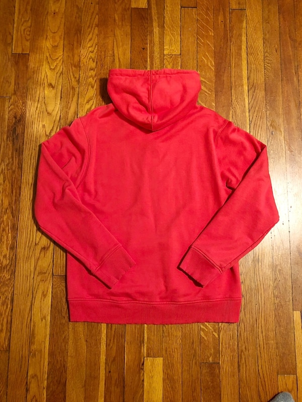 "New! Helmet Lang hoodie paid $495 size authentic! Excellent condition. Style ""Red Champaign"" print hoodie. Fabric 100% cotton this is a unisex hoodie. The men's fit is regular and women's fit is an oversized look.  fb83f0a3-dd34-4679-9694-267cb2f97f9f"