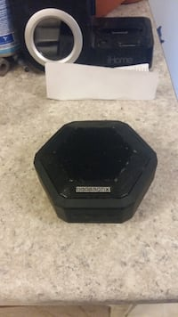 hexagonal black Boombotix speaker