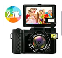 HD Digital Camcorder, Flip Screen Vlog Cam, Flash NEW 1/2 RETAIL