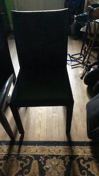 Crate & Barrel Leather Dining Chair