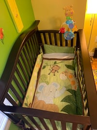 baby's brown wooden crib Washington, 20016