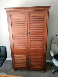 brown wooden 2-door wardrobe Las Vegas, 89121