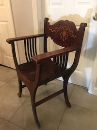brown wooden chair with table Elmwood Park, 60707