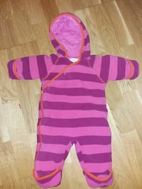 Fleece dress til baby str 62.