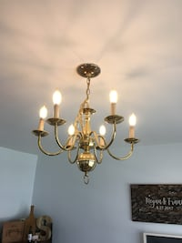Tradional 6-light gold chandelier Annapolis, 21403